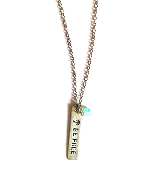 be free necklace – pewter