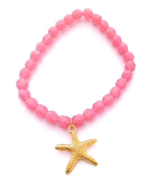 pink opal starfish bracelet