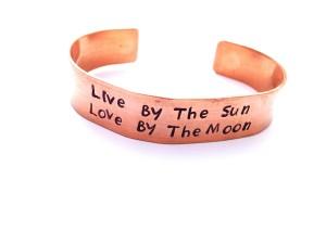 Live by the sun thick copper cuff 103TC