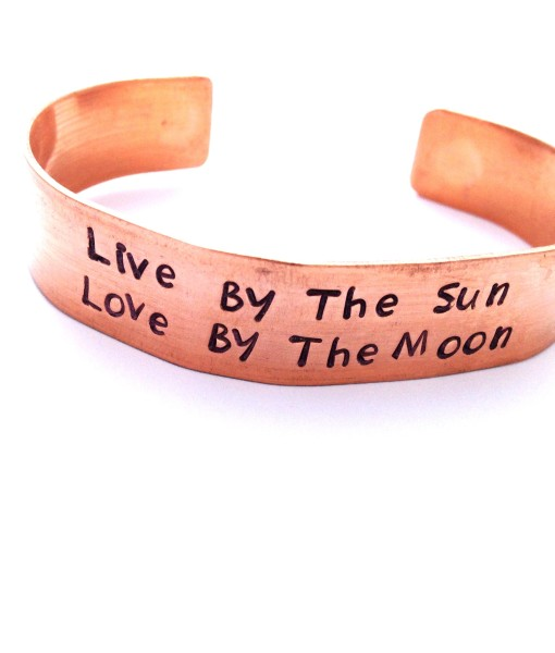 Live by the sun thick copper cuff 103TC